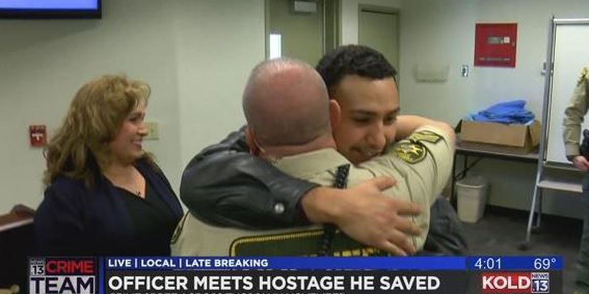 Emotional reunion for PCSD deputy and the man he saved