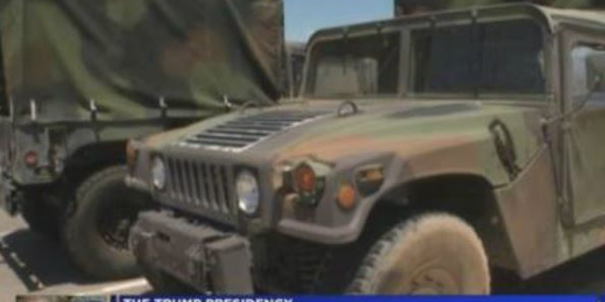 Local law enforcement response to new access to military surplus