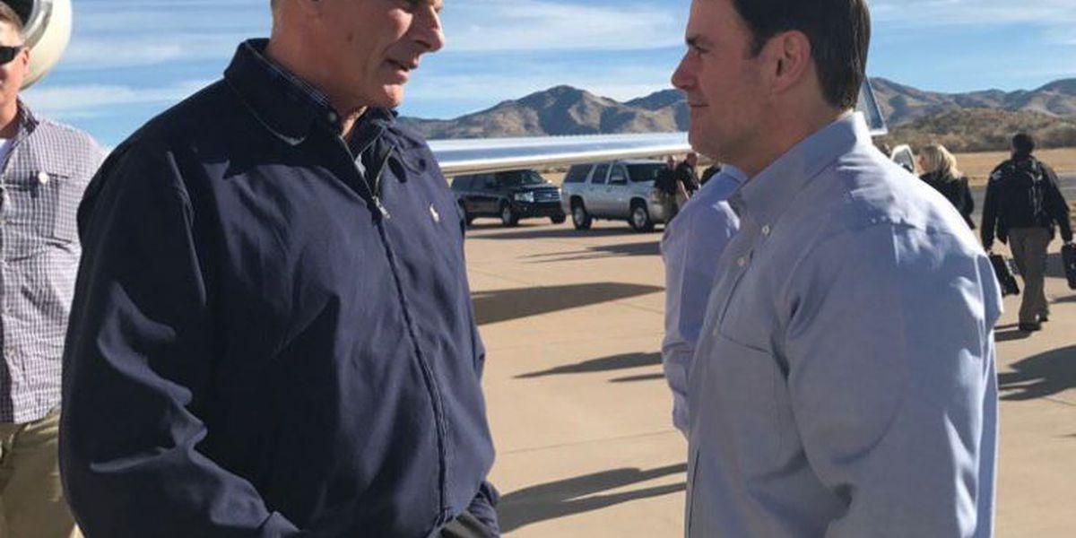 Homeland Security secretary tours southern Arizona border