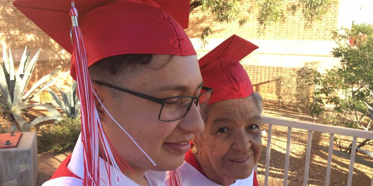 Tucson grandmother joins grandson for a graduation ceremony she never had
