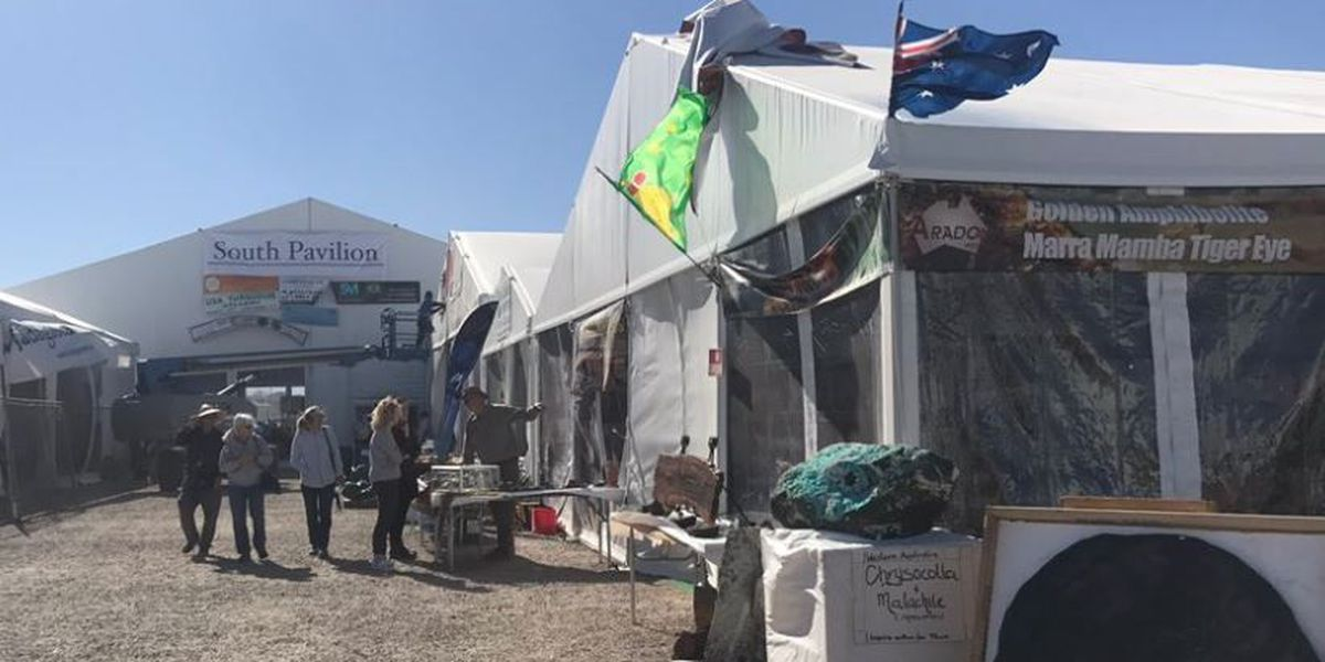 Windy conditions put fire inspectors on high alert at gem shows