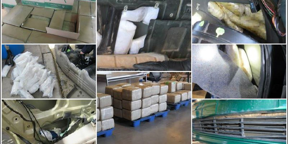 CBP officers seize more than $1.6 million in drugs at 2 AZ ports of entry in a week