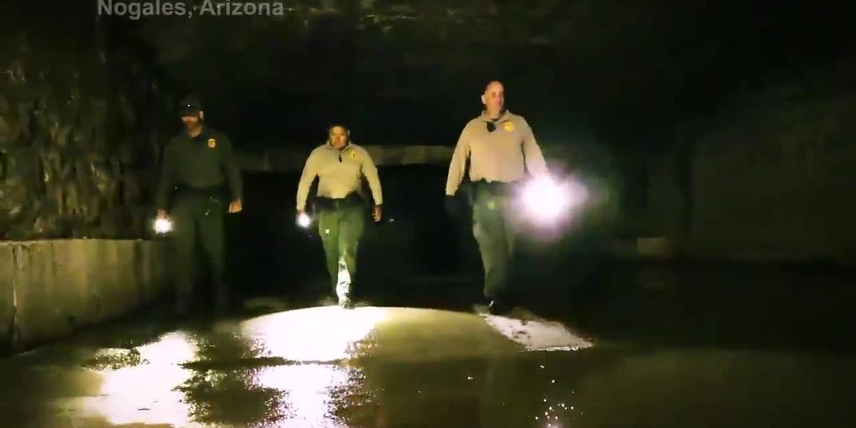 Two men arrested trying to smuggle drugs through Nogales drainage system
