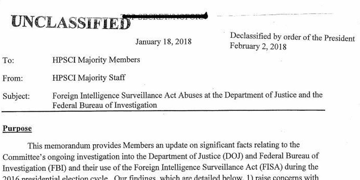 READ: The memo alleging surveillance abuse by FBI