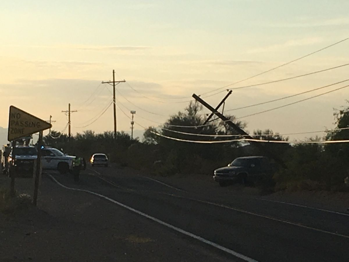 One injured in collision with power pole