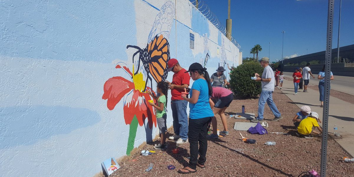TEP, Desert Museum create giant 'paint-by-numbers' mural