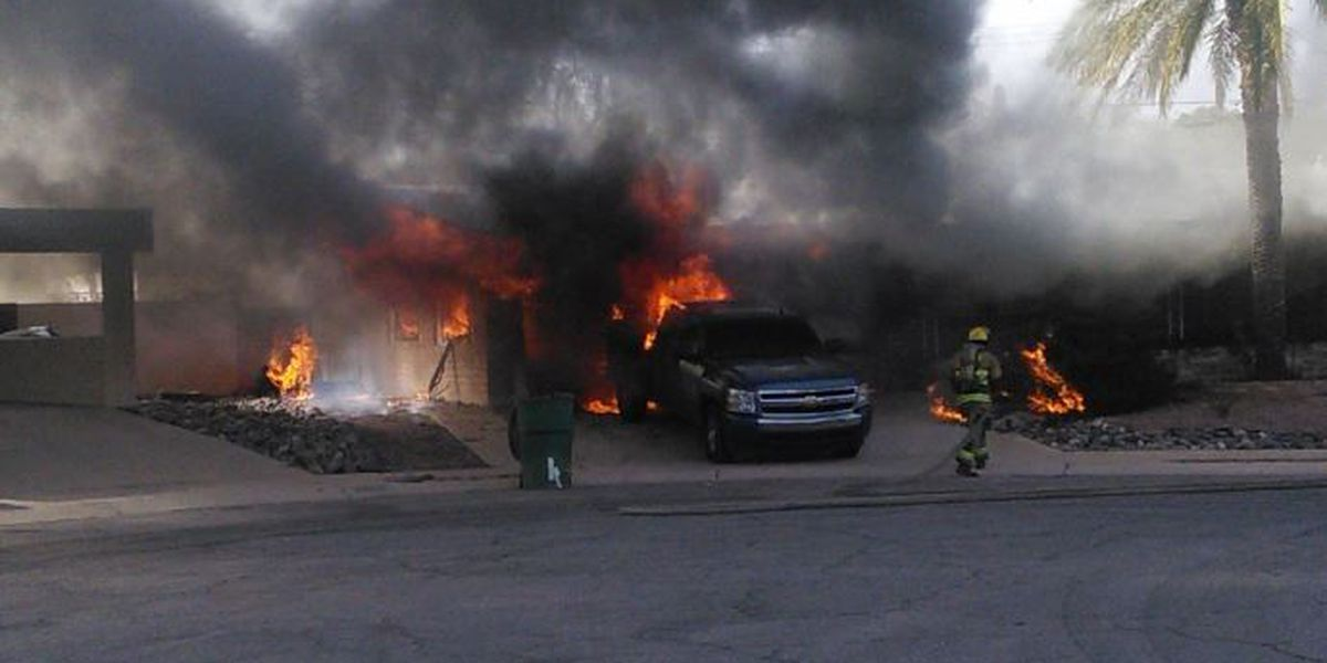 Man severely burned by vehicle fire at east-side home
