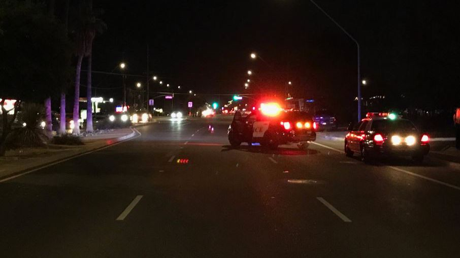UPDATE: Valencia Road reopens after pedestrian hit Saturday night