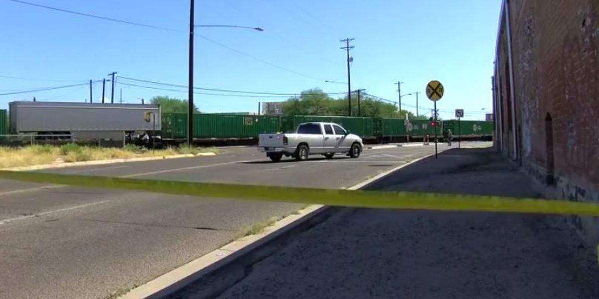 Pedestrian hit by train in downtown Tucson
