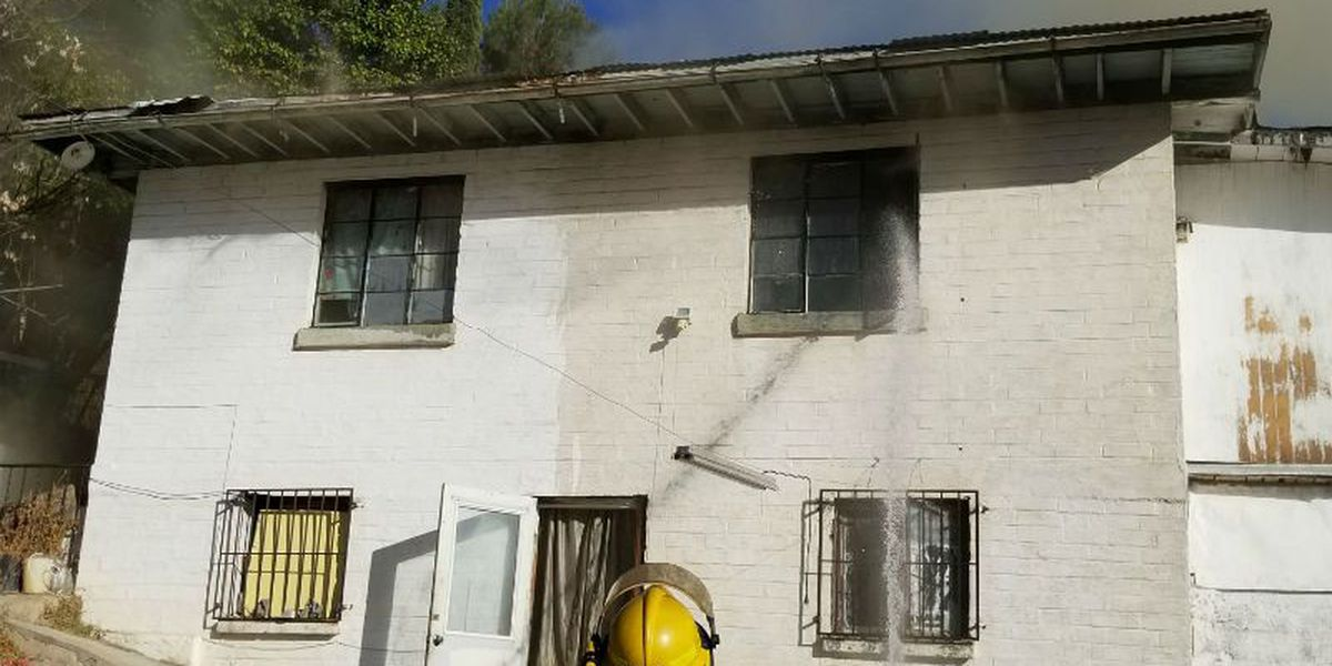 Fire crews battle difficult house fire in Nogales