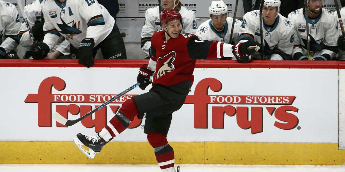 Coyotes win 6-3 to stop Sharks' 7-game streak