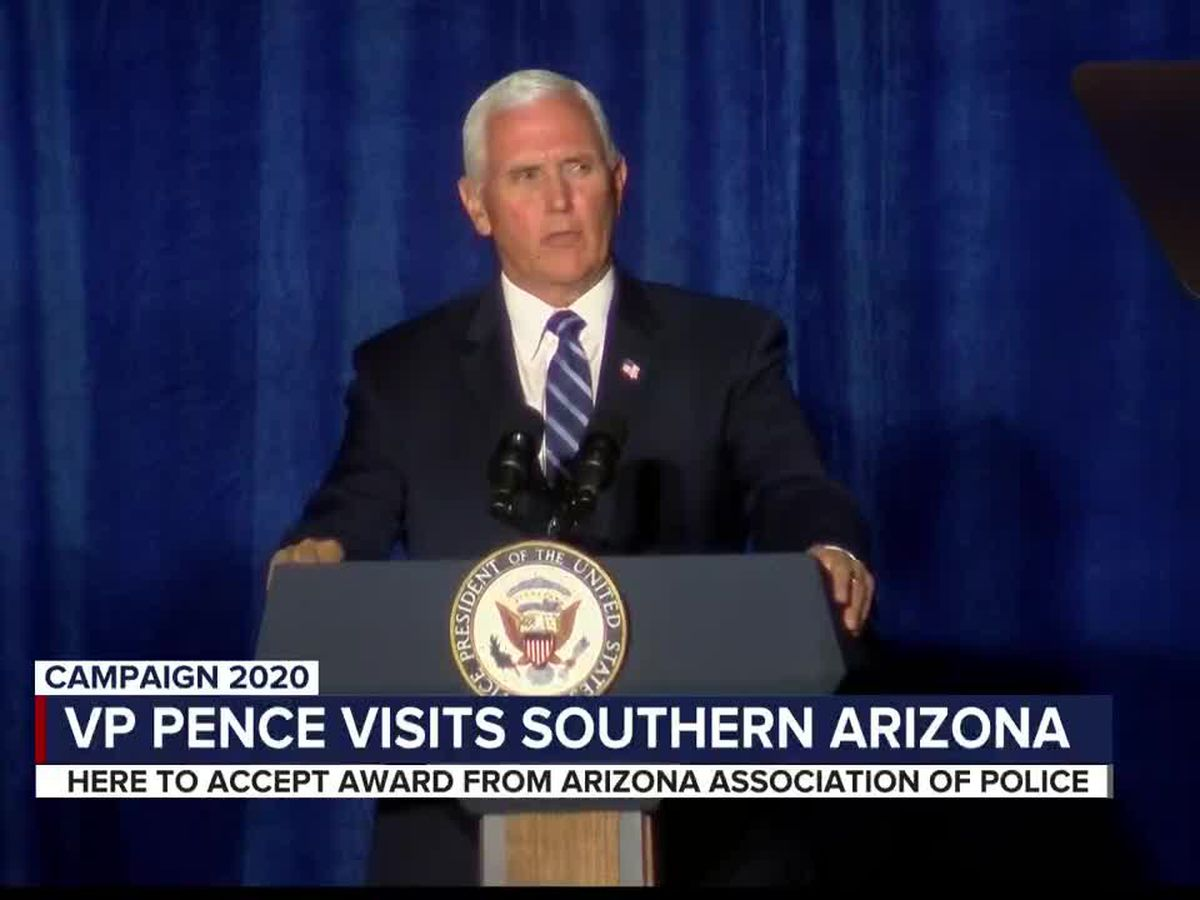 Pence brings Trump's 'law and order' push to Arizona