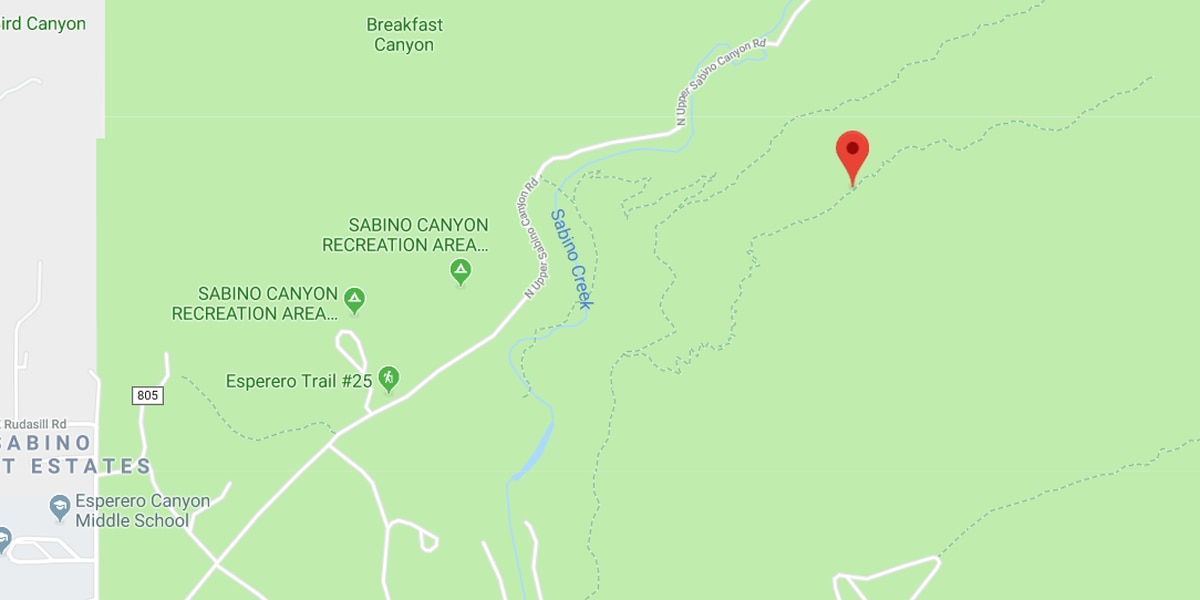 Hiker rescued from Sabino Canyon