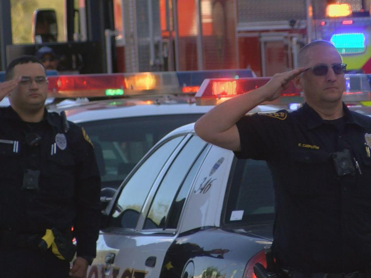 Tucson Fire Department honors retired paramedic battling COVID-19
