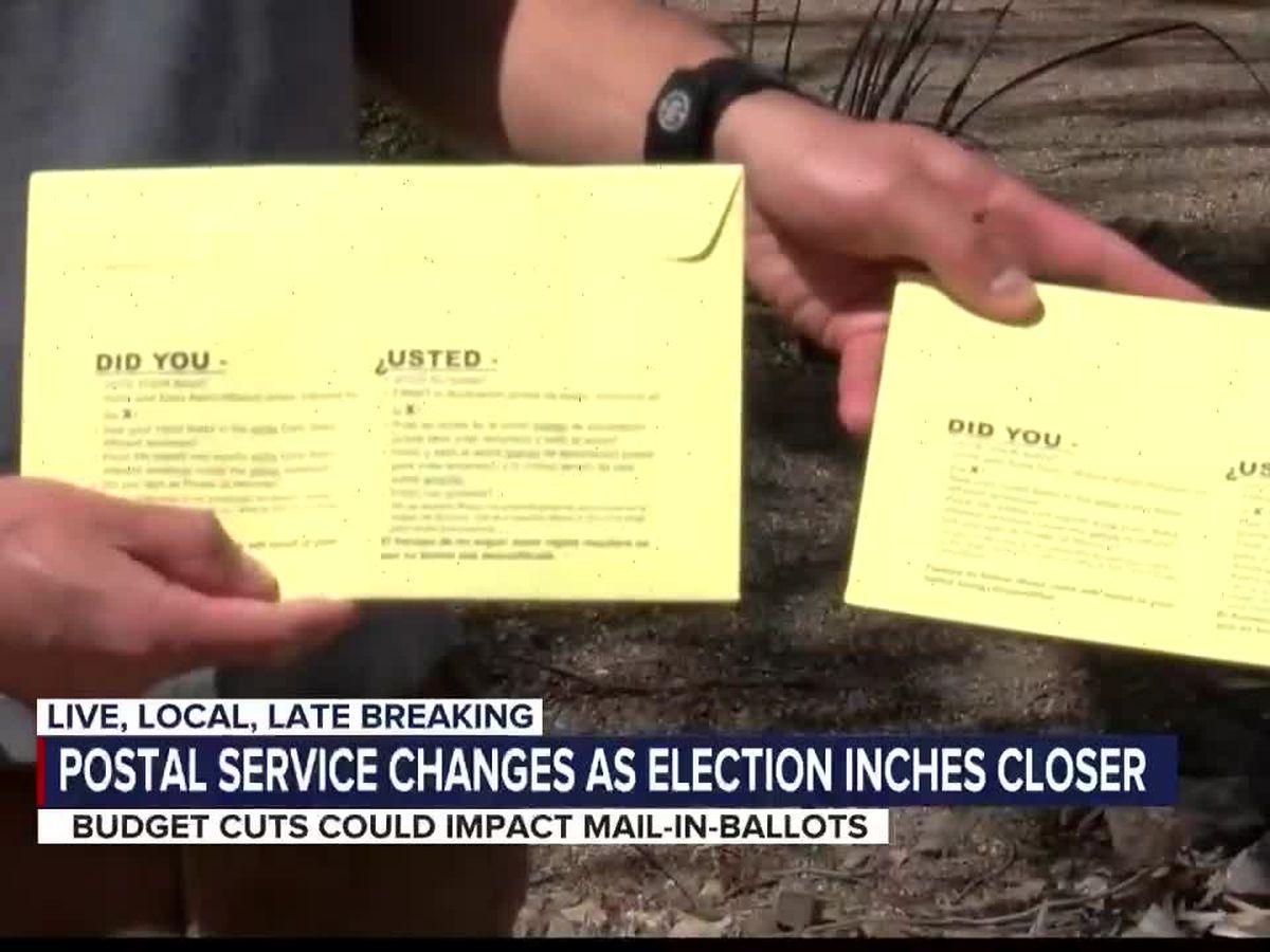 U.S. Postal Service changes as elections get closer