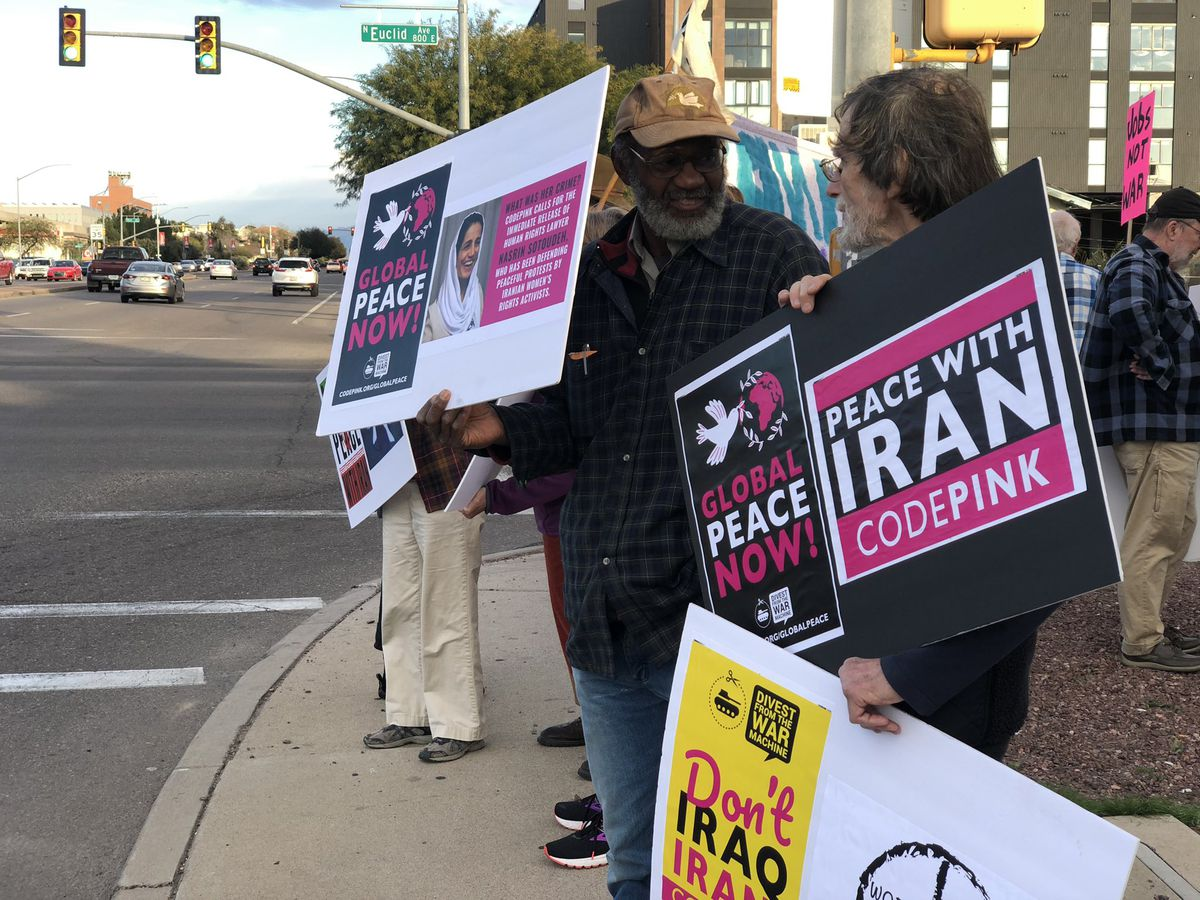 Group gathers Saturday to protest going to war with Iran