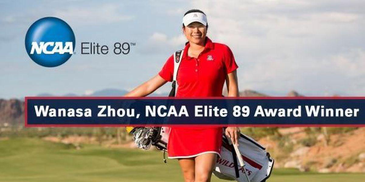 Wanasa Zhou Earns NCAA Elite 89 Award