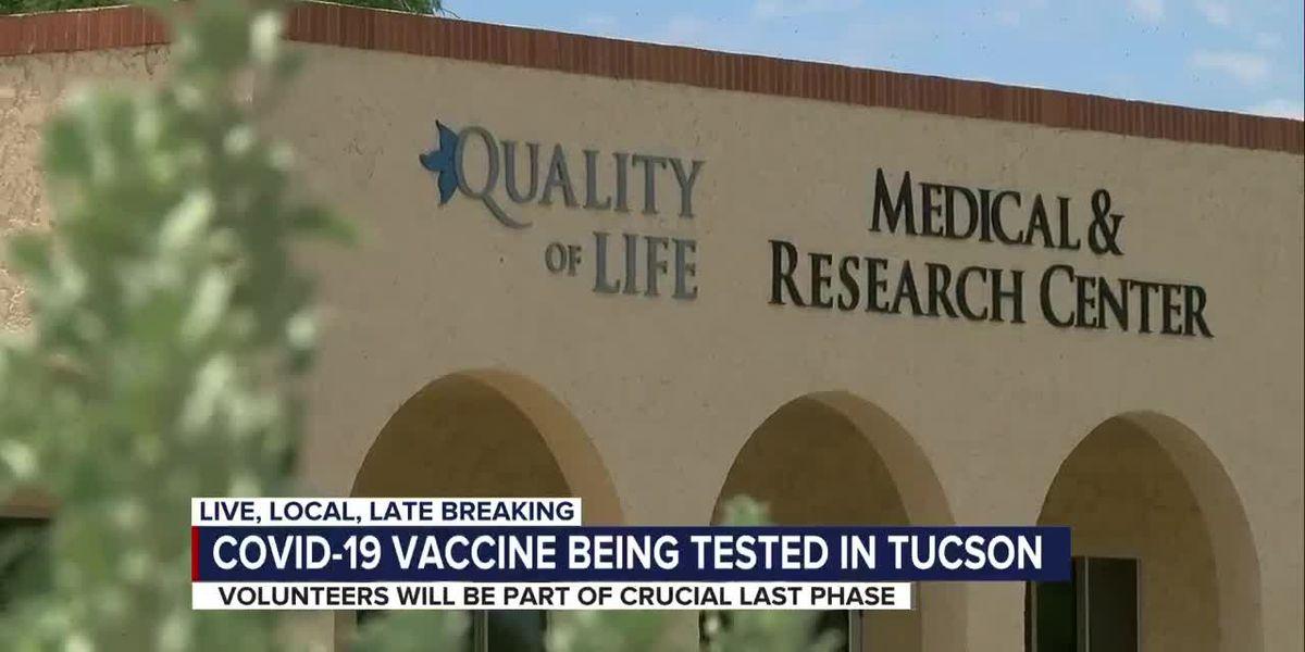 COVID-19 vaccine trials start in Tucson
