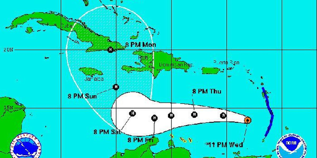 Tropical Storm Matthew heads into Caribbean