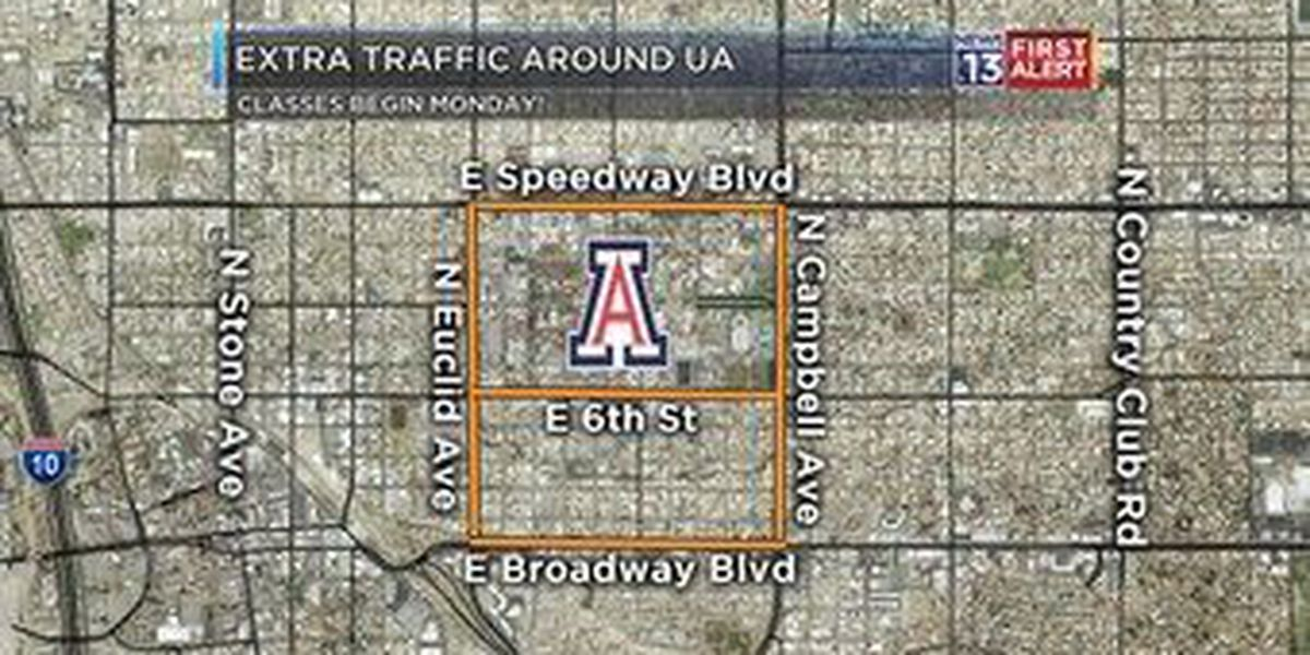 Plan for surge in campus traffic as UA classes begin