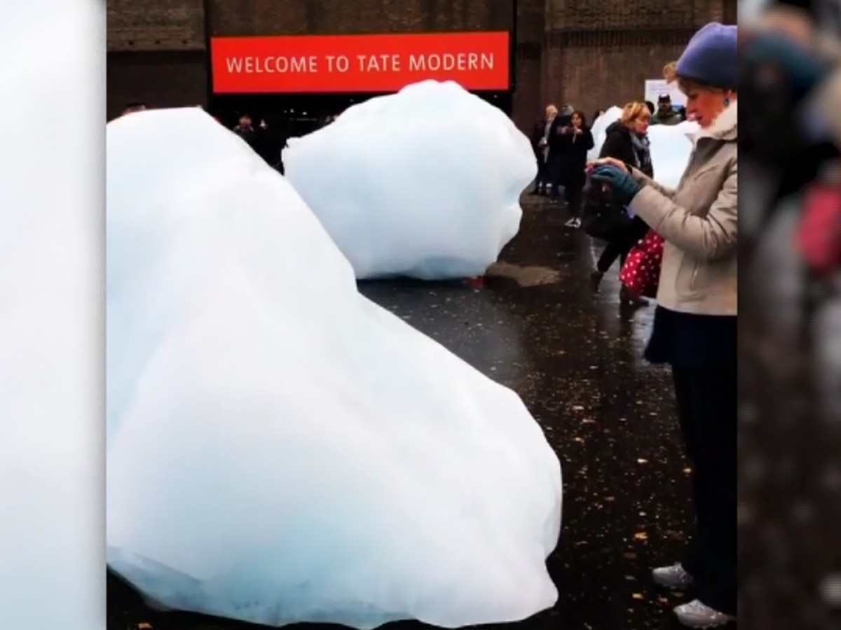 'Watch Ice': Melting art installation aims to highlight climate change