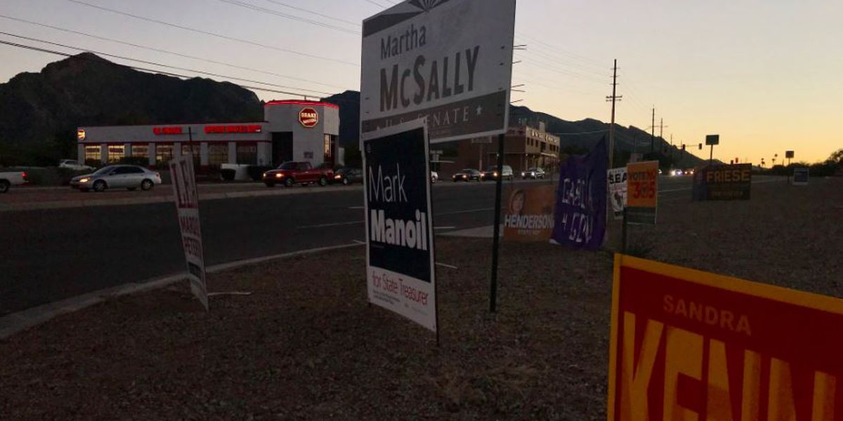 As election wraps up, political signs start to come down