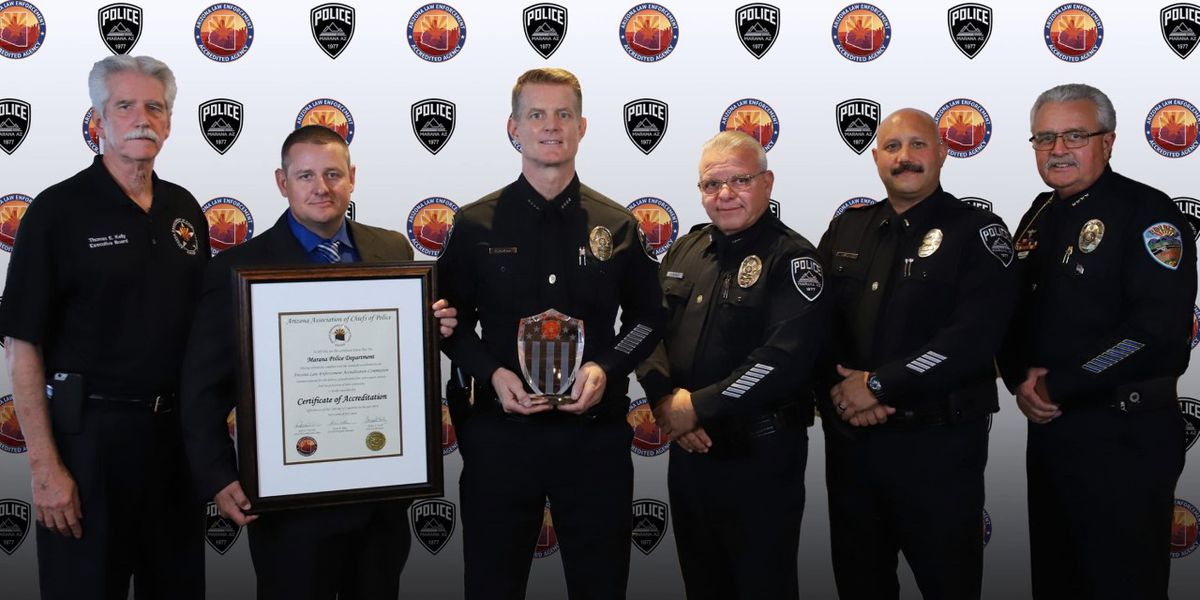 Marana Police Department receives state accreditation
