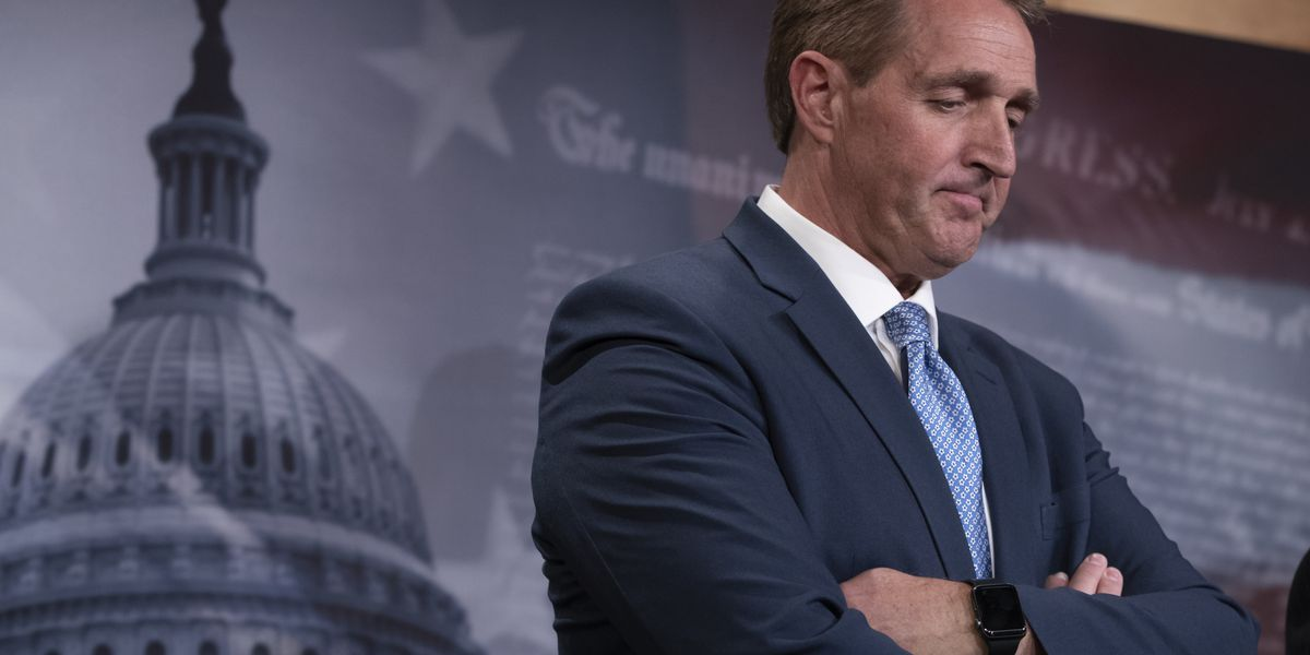 Former Sen. Flake says defeat of President Trump better for Republican Party than second term