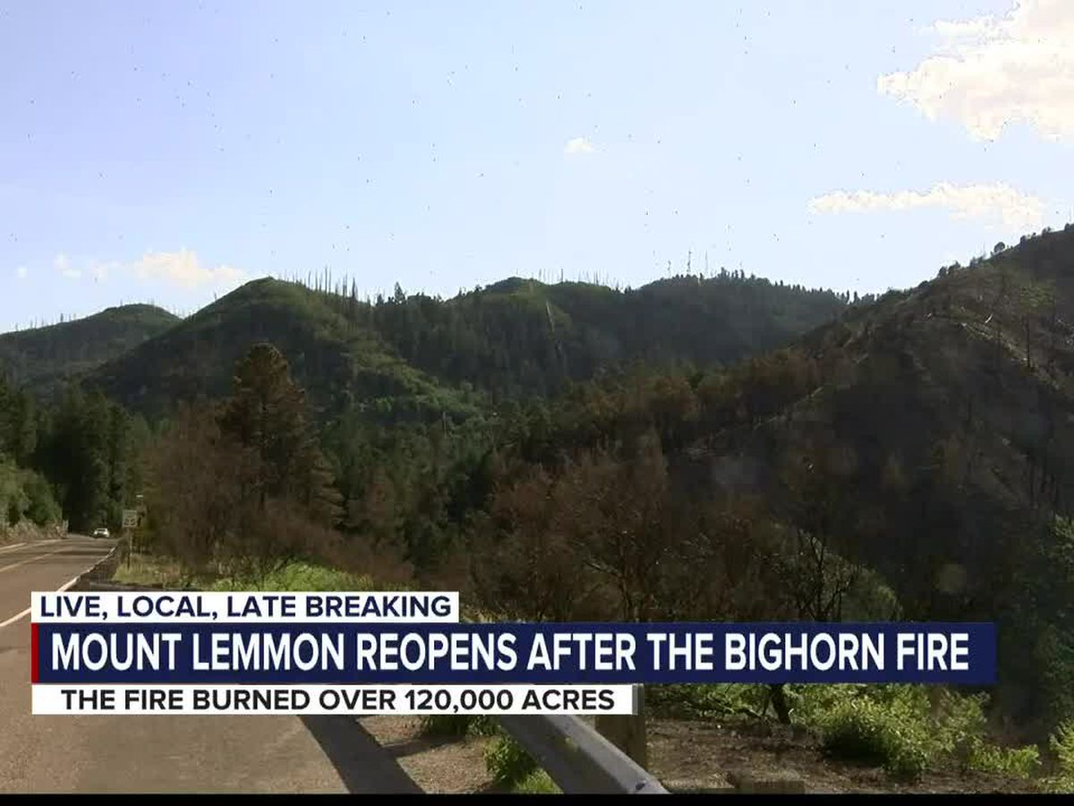 Road to Mount Lemmon reopens to public after Bighorn Fire