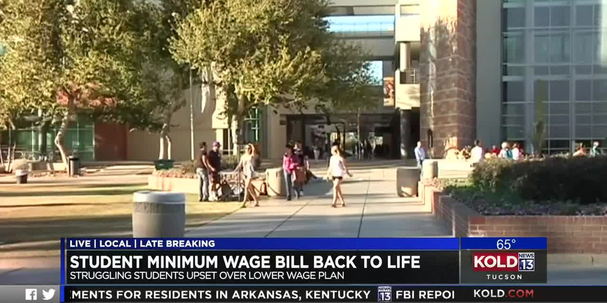 Student minimum wage bill back to life