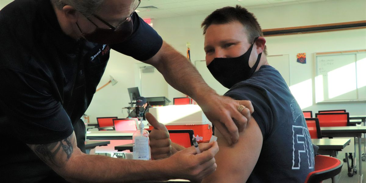 Green Valley Fire, Drexel Heights Fire receive COVID-19 vaccinations