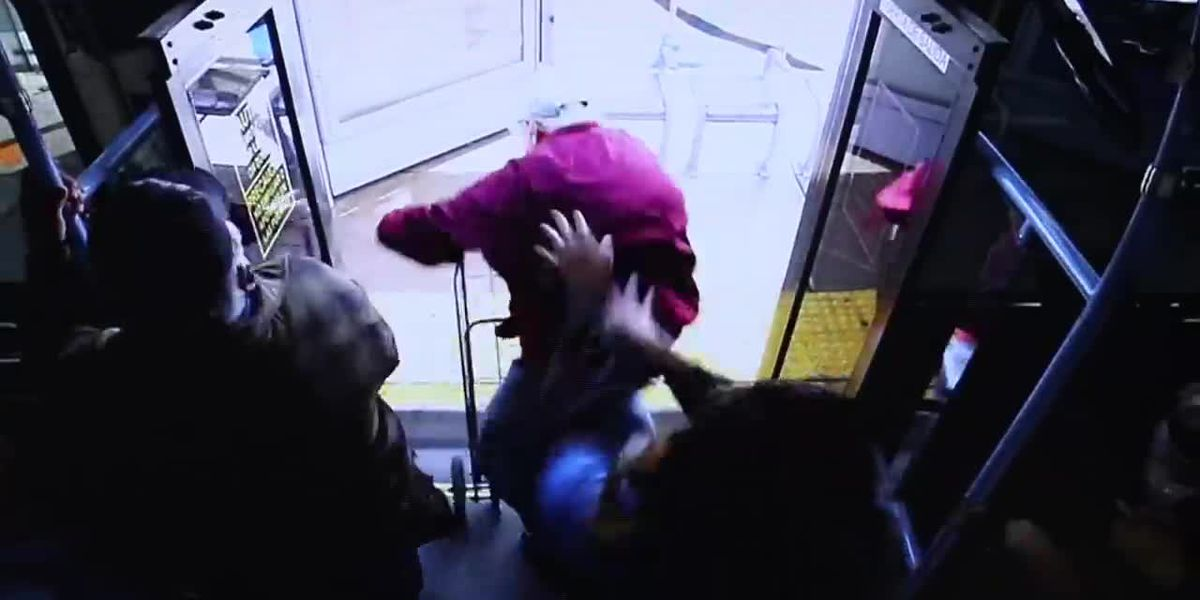 Video shows elderly man being pushed off bus