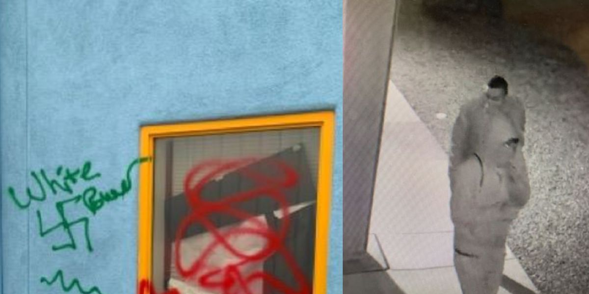PCSD searches to identify suspects after profanities, swastikas discovered painted on school building