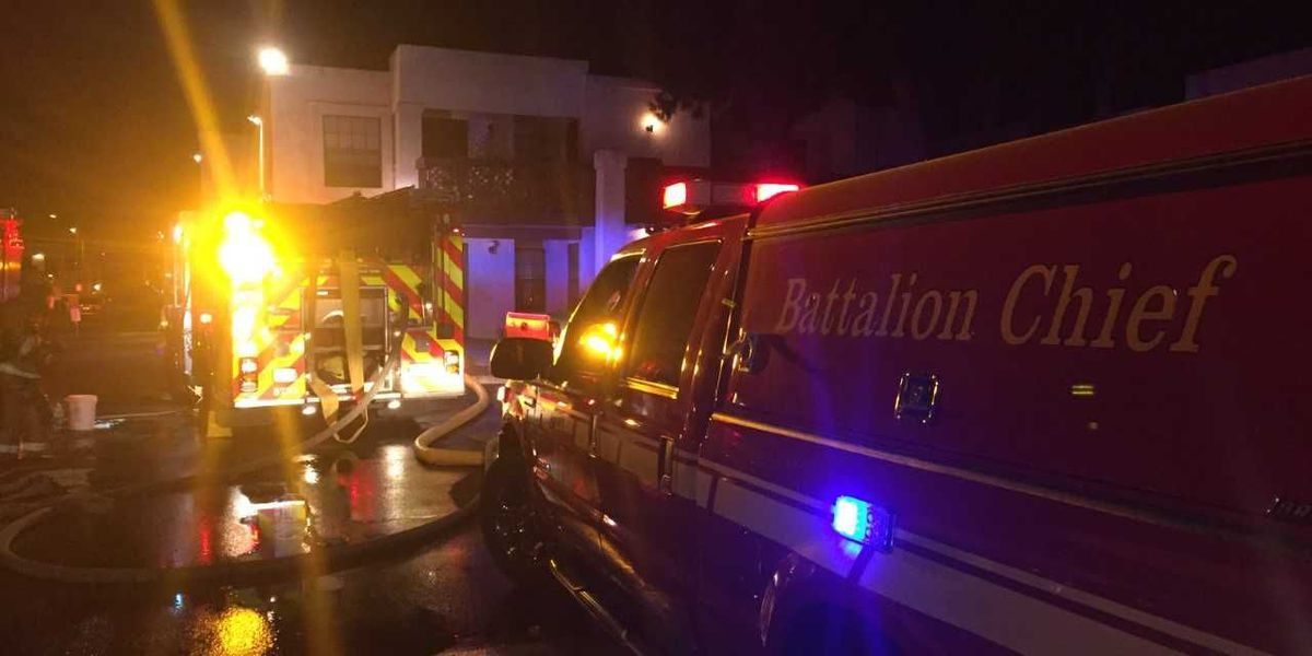 Apartment fire near Oracle and Roger sends one person to hospital in critical condition