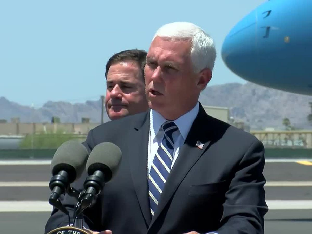 Vice President Pence meets with Gov. Ducey as Arizona leads nation in coronavirus cases