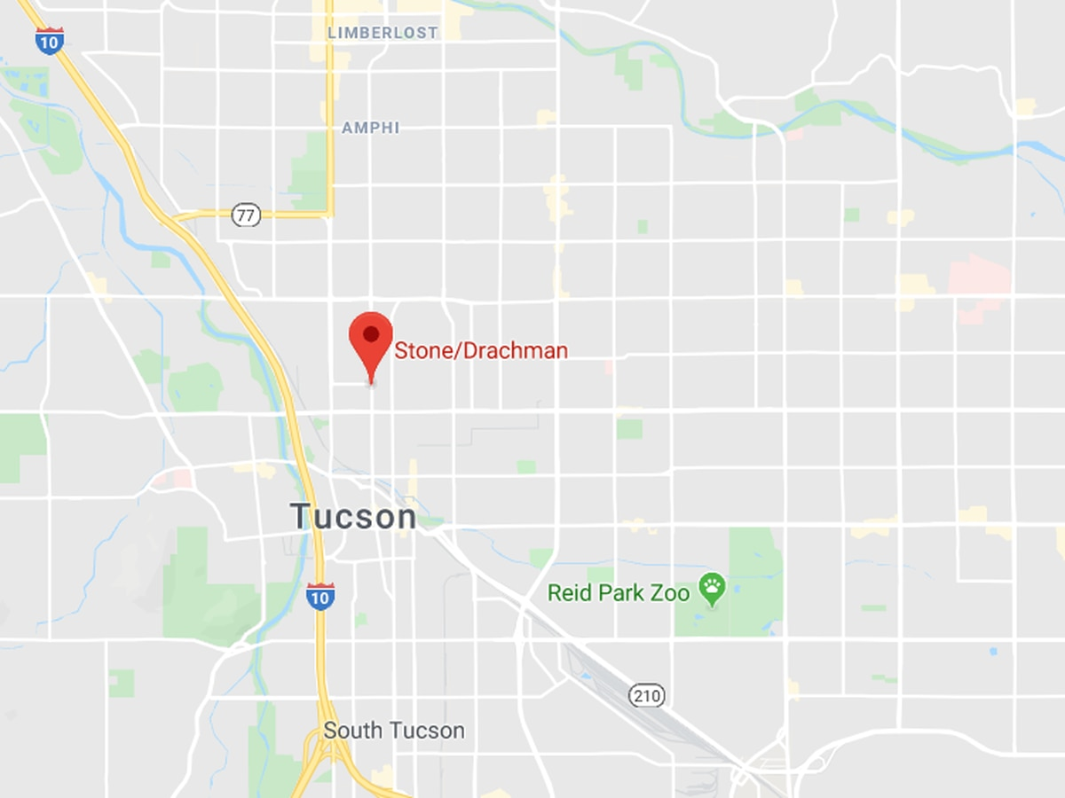 UPDATE: Roads open after pedestrian collision in midtown Tucson