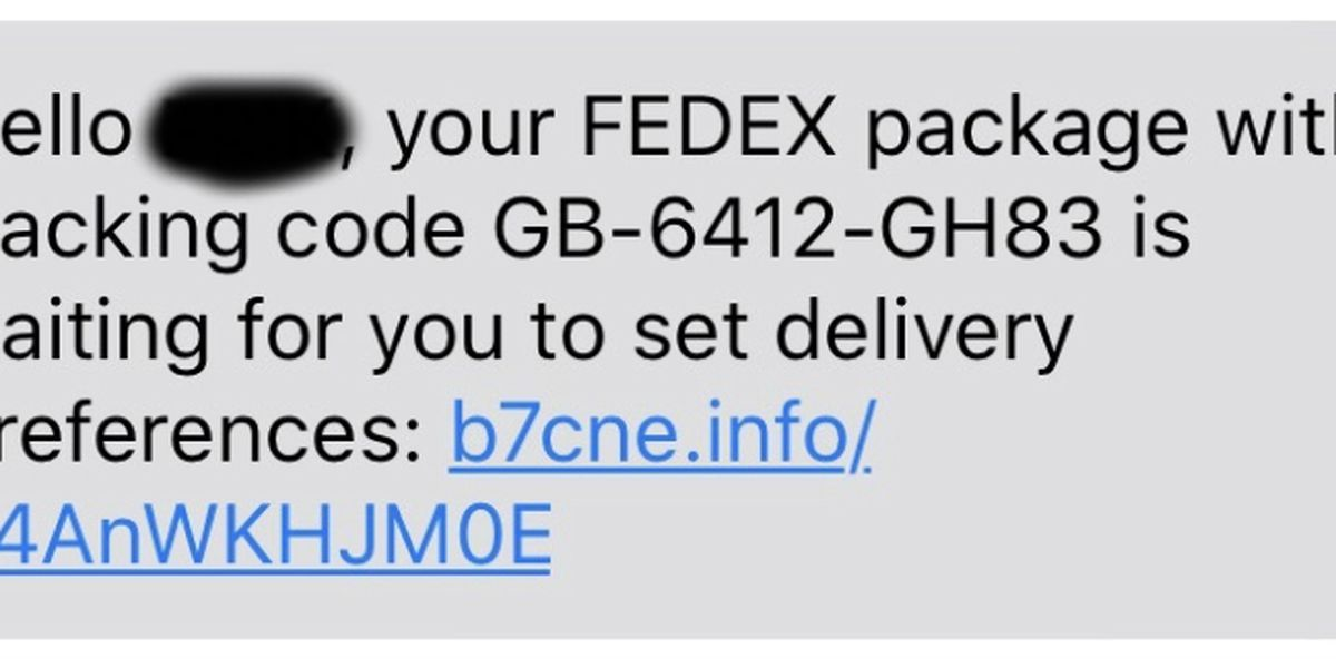 Scam warning: Texts claim to be from FedEx, Amazon