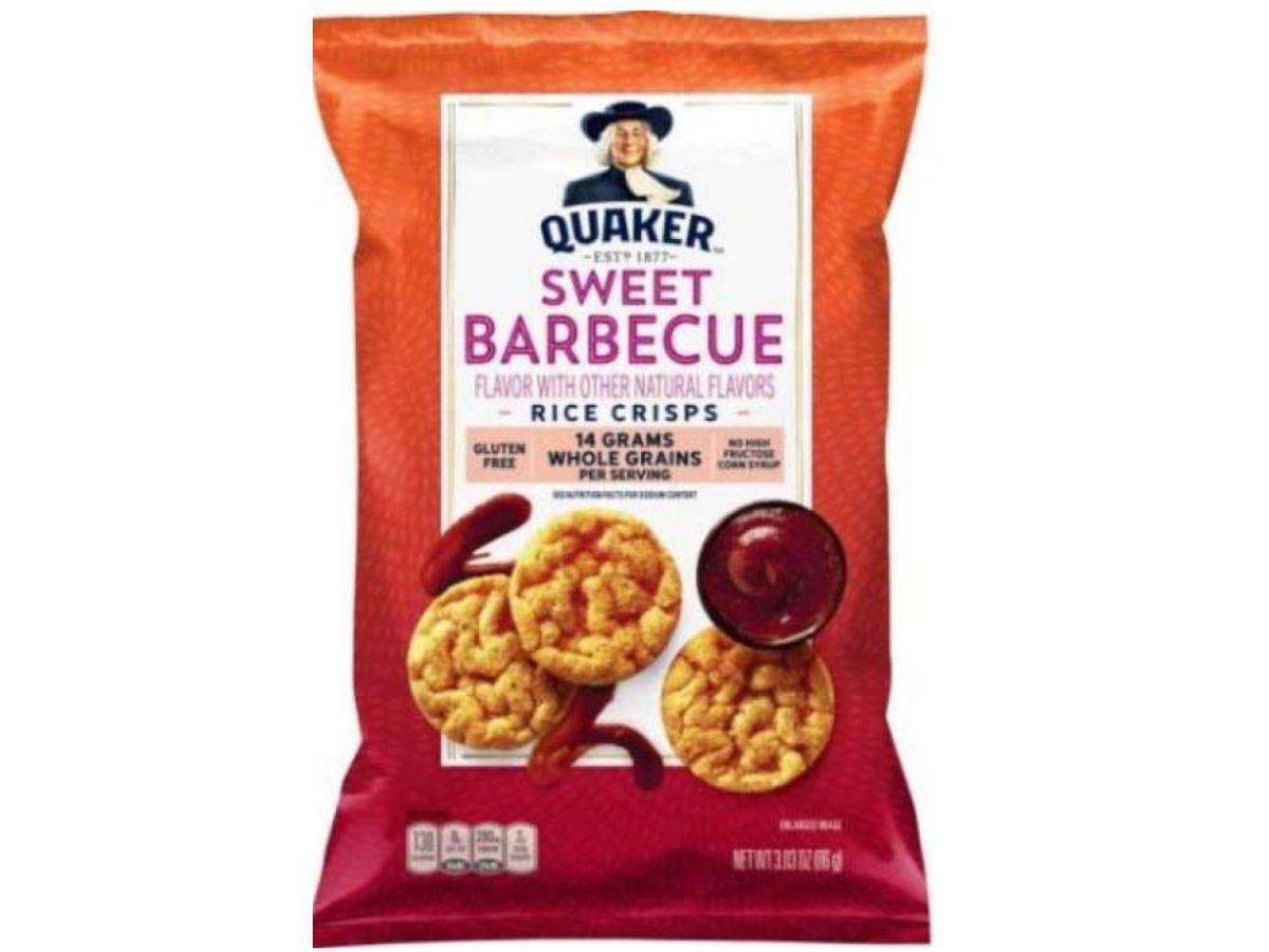 Quaker recalling BBQ flavored rice snacks due to undeclared allergen