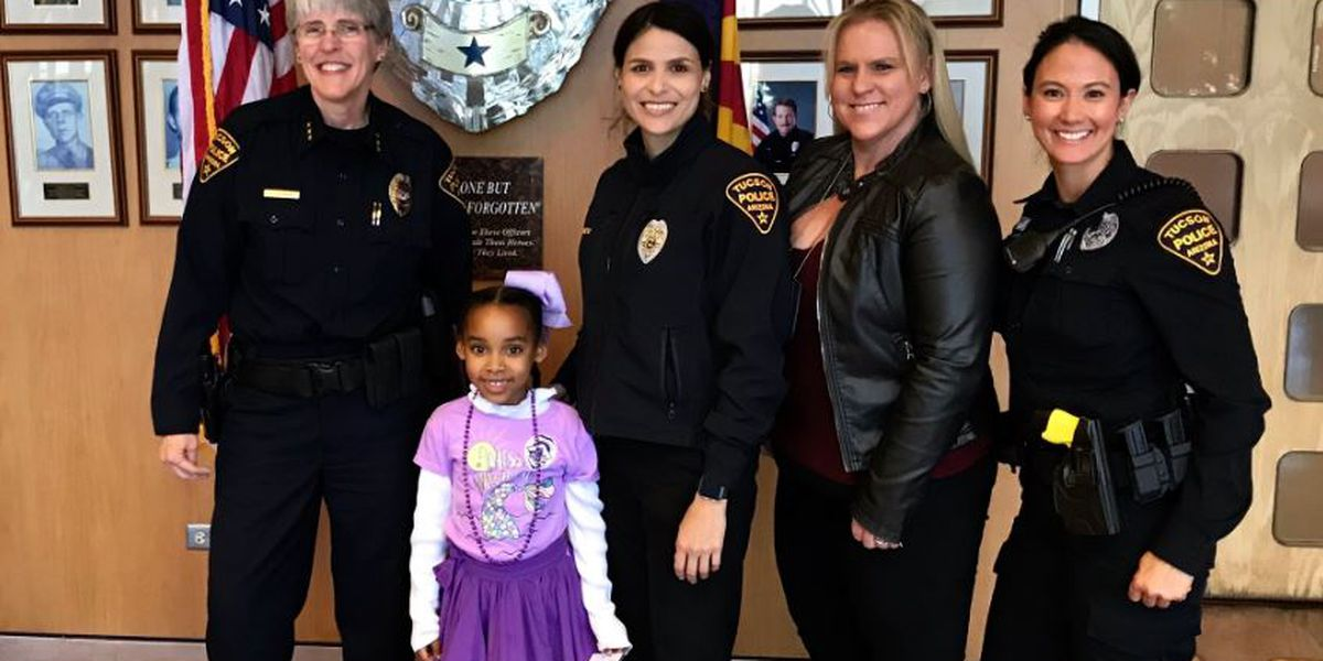 Tucson girl visits police station to meet her heroes, role models