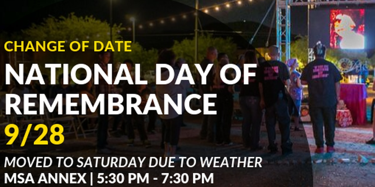 UPDATE: National Day of Remembrance