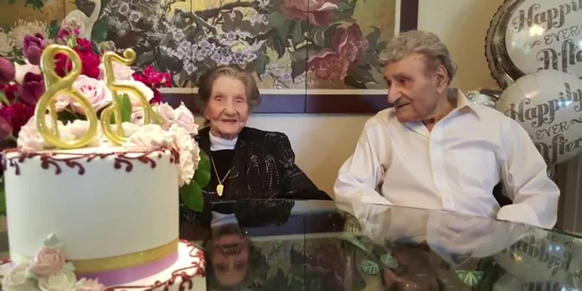 America's longest-living couple celebrates 85 years together