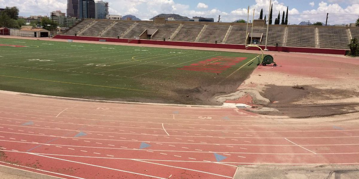 Preventing Tucson High School football field from flooding again
