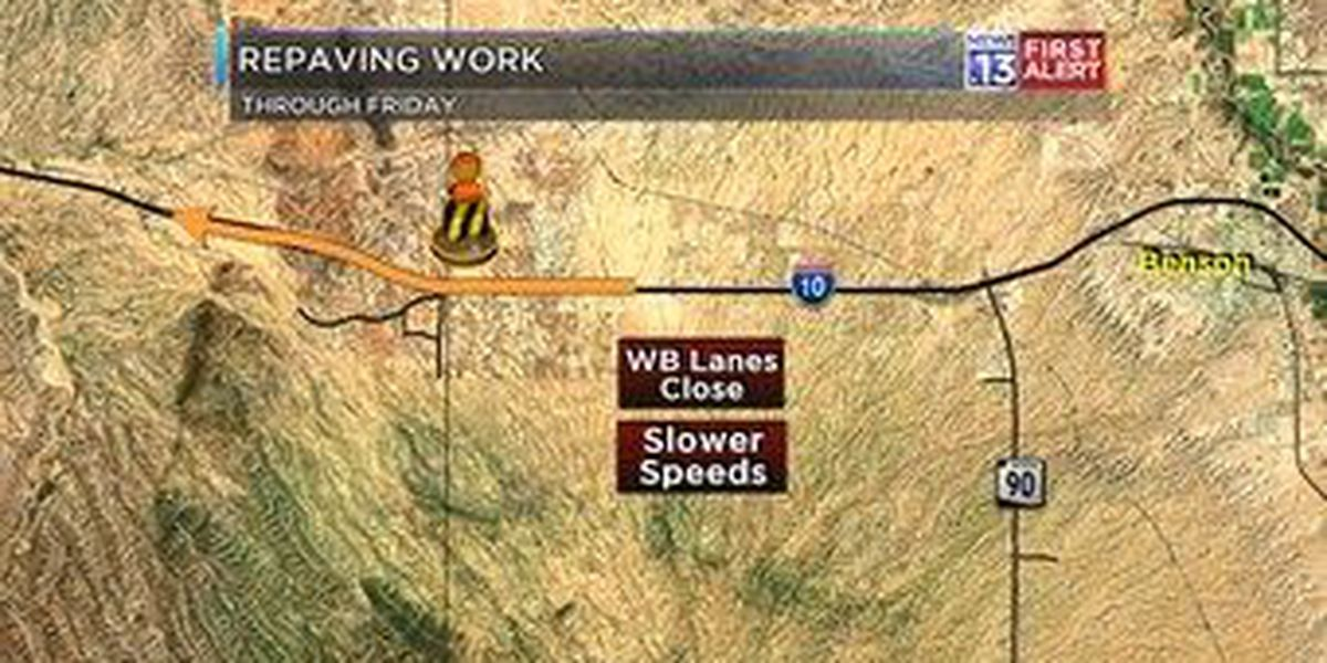Paving precedes highway closure east of Tucson