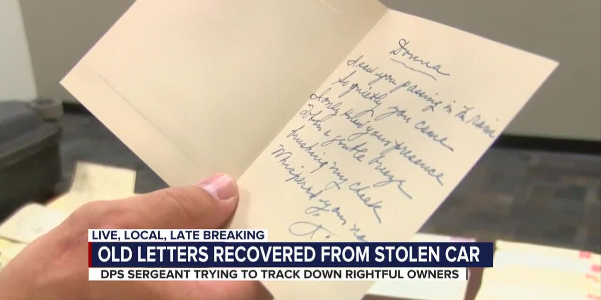 Suitcase with 100-year-old letters recovered from stolen vehicle, authorities looking for owner