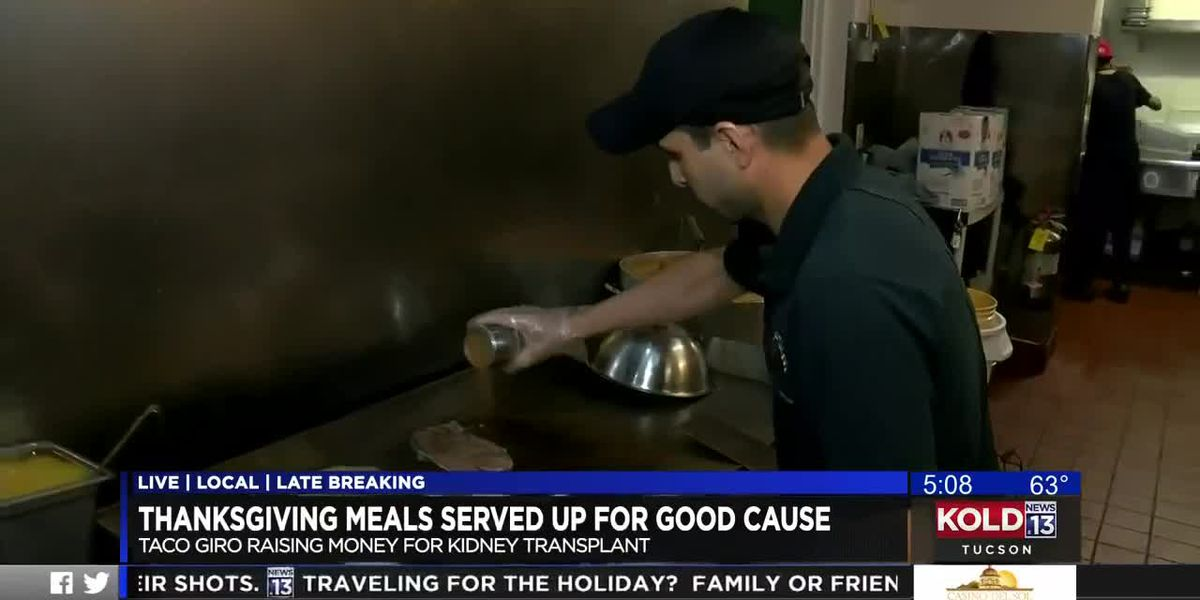Restaurant open on Thanksgiving to benefit cook in Tucson