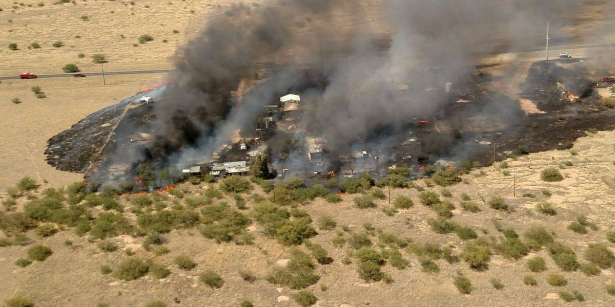 Two homes, barn destroyed in Cochise County fire