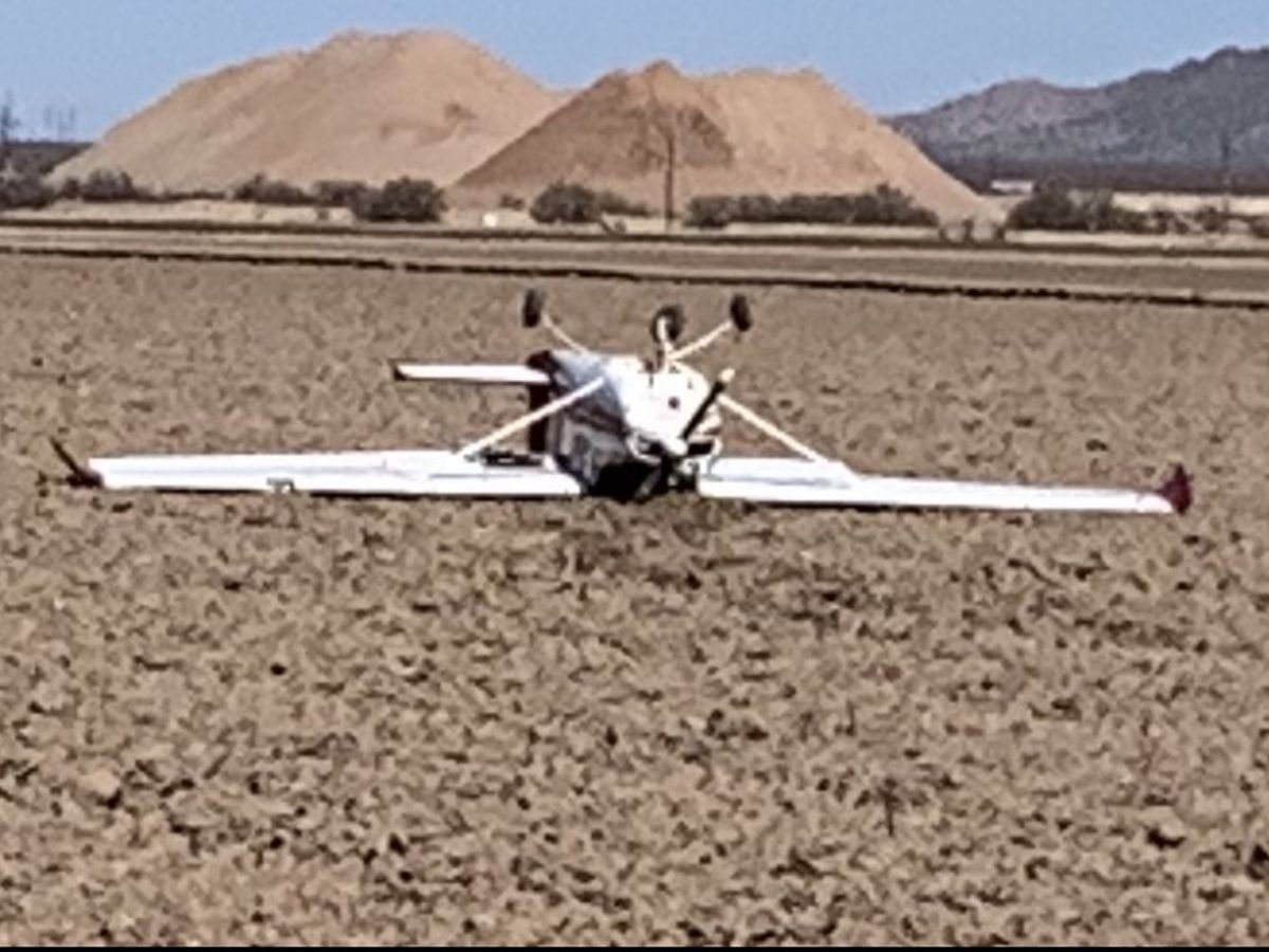 Avra Valley fire crews respond to small fallen aircraft in farm fields