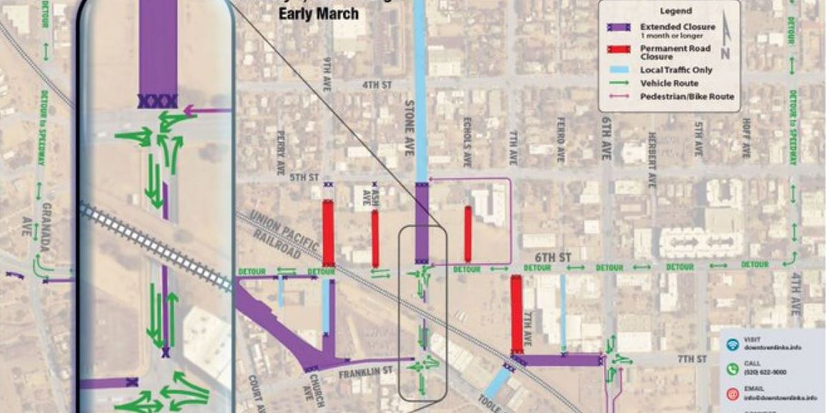 Storm drain construction to affect downtown traffic beginning Monday