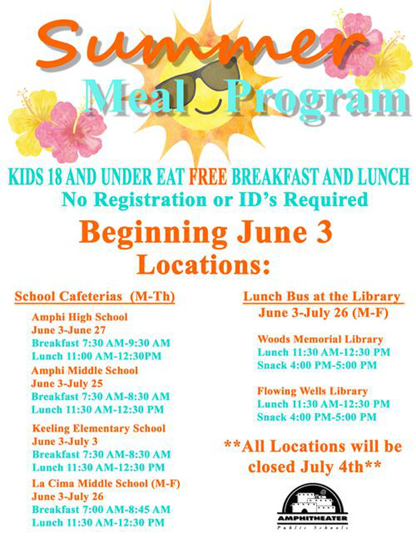 Southern Arizona School Districts Participate In 2019 Summer Food