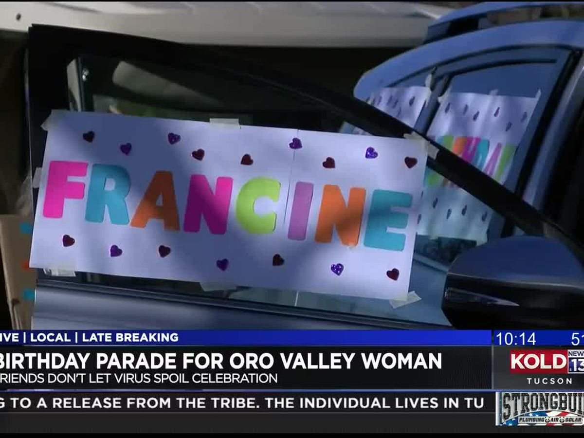 Parade helps celebrate Oro Valley woman's 75th birthday